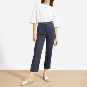 🆕 EVERLANE Lightweight Straight Leg Crop Pants 12
